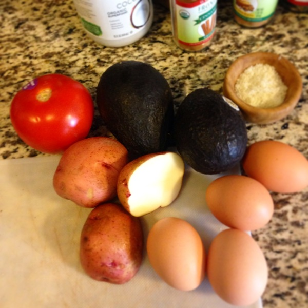 Avocado Egg Ingredients